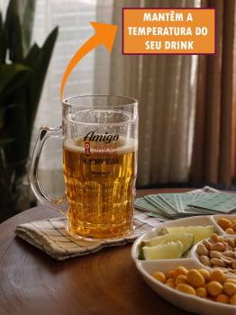 Caneca De Chopp Cerveja Divertida 400ml Copo Caneca Criativa Preserva Temperatura Amigo Dá Cerveja