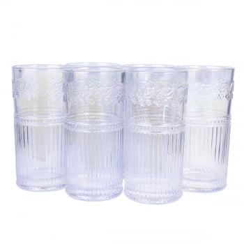 Copos Longos 6 Unidades De Cristal Ecológico 360mL Para Bebidas Drinks Clássicos