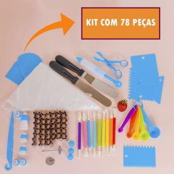 Kit Confeiteiro Completo Sacos Bicos Confeitar Profissional 78Pçs