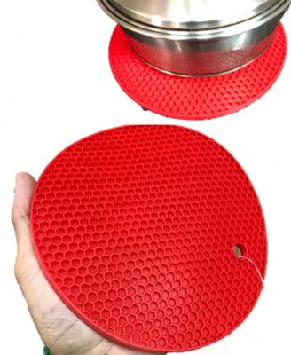 Descanso de panelas e travessas redondo em silicone 18cm isolante termico MimoStyle mimo3445