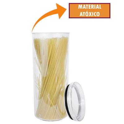 Kit 4 Portas Mantimentos Redondo Pote Hermético Empilhável Condimento Acrílico 2200ml