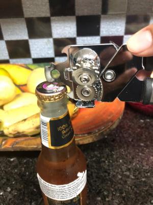 Abridor De Latas cerveja garrafa abridor multifuncional manivela Profissional aço Inox Sem Rebarbas mimo387