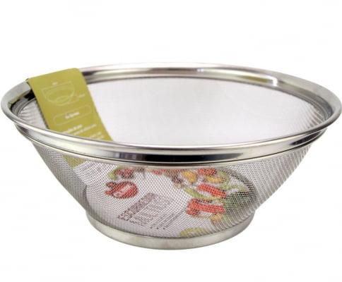 Escorredor de macarrão arroz grande inox peneira de cozinha coar e escorrer 28x13cm ck4592